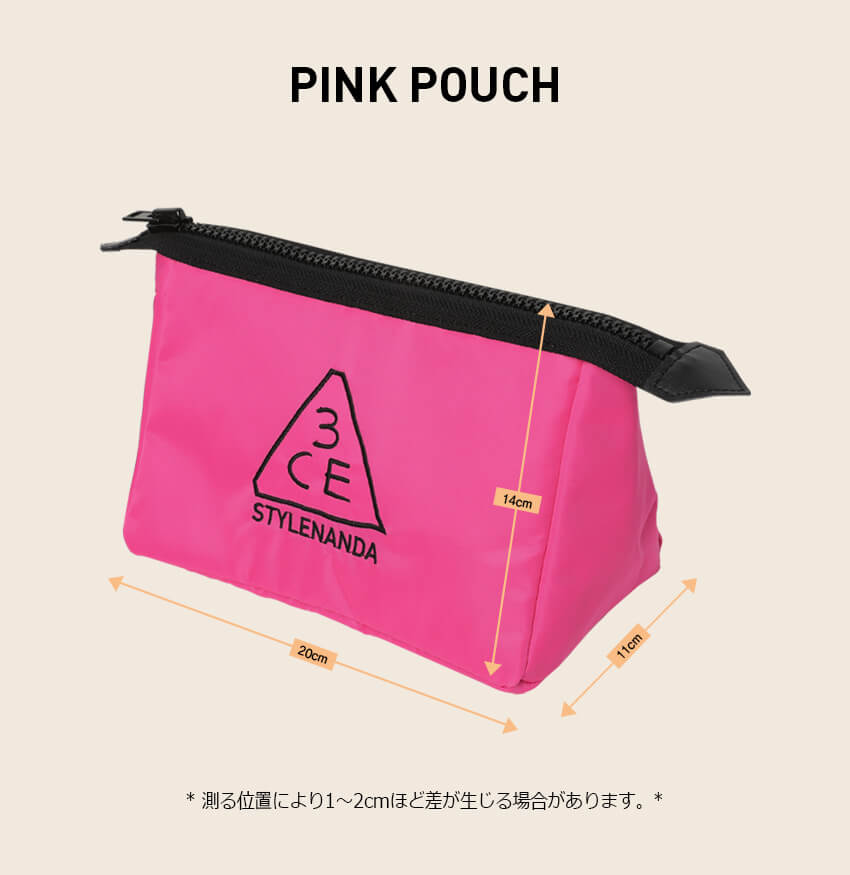 3CE PINK POUCH