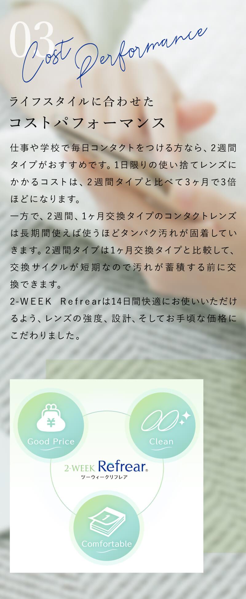 ツーウィーク リフレア(2week Refrear)(6枚入)