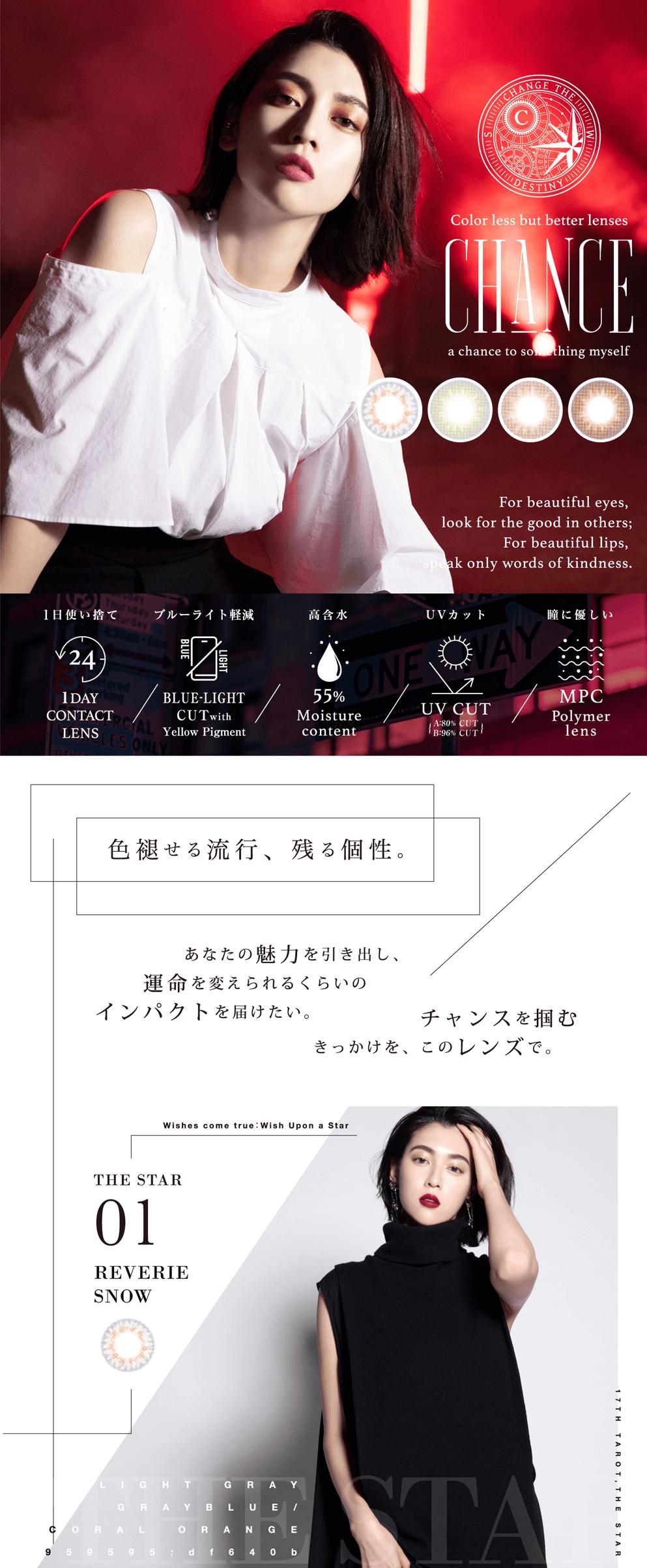 CHANCE (チャンス) 1DAY 10枚 日本初ブルーライト軽減レンズ