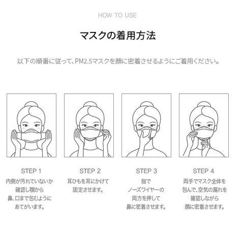 エアリッシュ プラス Airish plus CLEAN SHIELD Health Mask KF94(1枚)着用方法