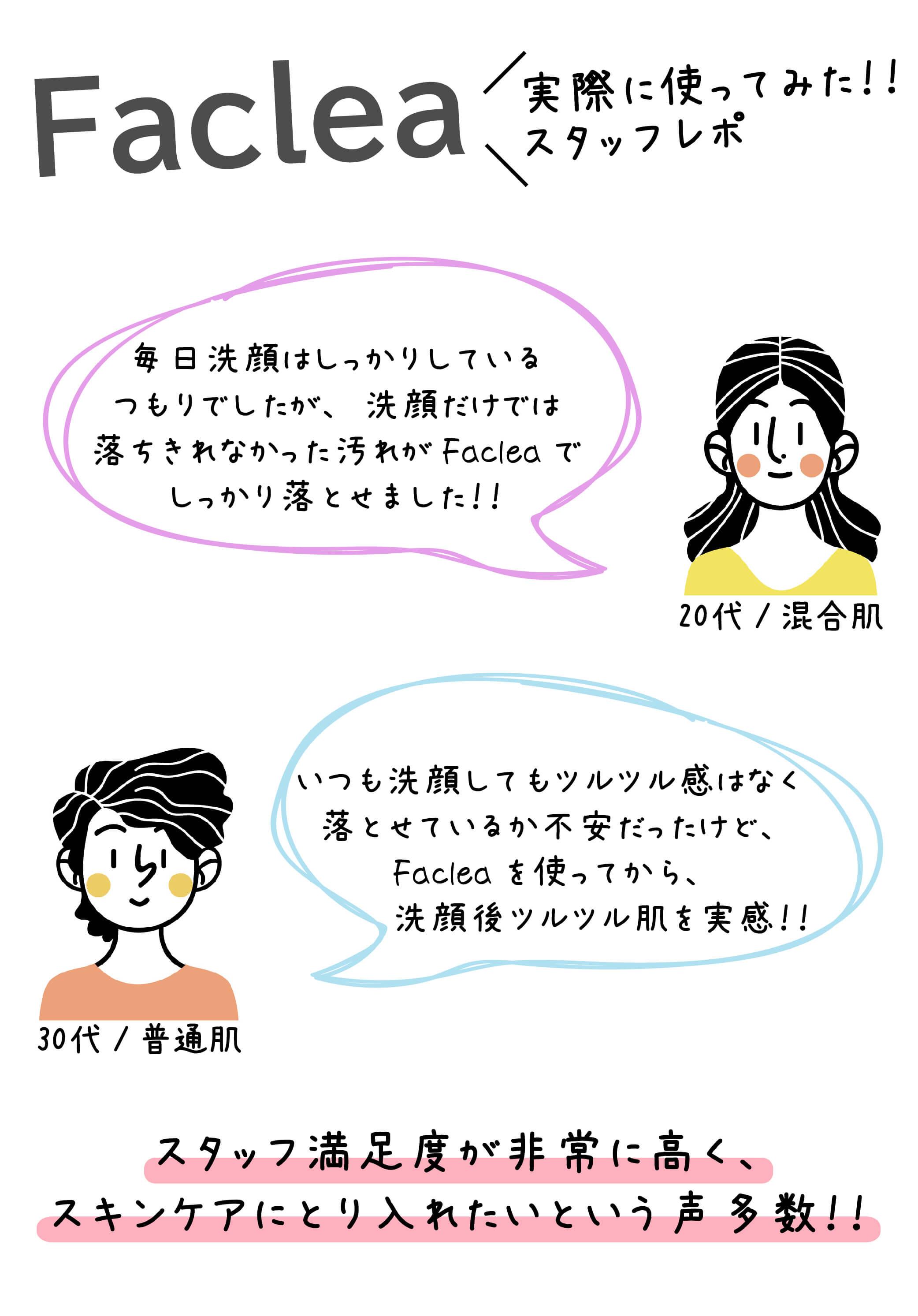 Faclea(ファクリア)洗顔ブラシスタッフ使用感レポ